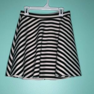 Abercrombie & Fitch striped skater skirt Sz XS